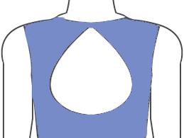 Drop-shaped-keyhole