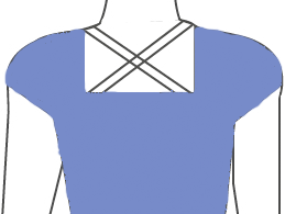 Square with criss-cross
