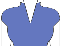 COLLAR WITH DEEP V-NECK